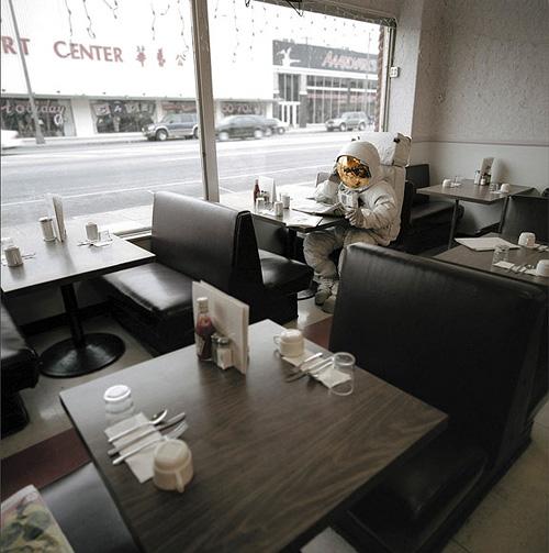 Astronaut in Restaurant