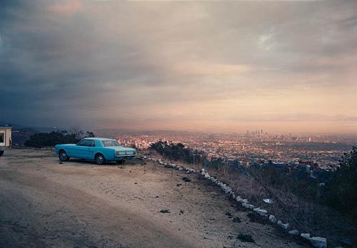 Blue Mustang Over LA