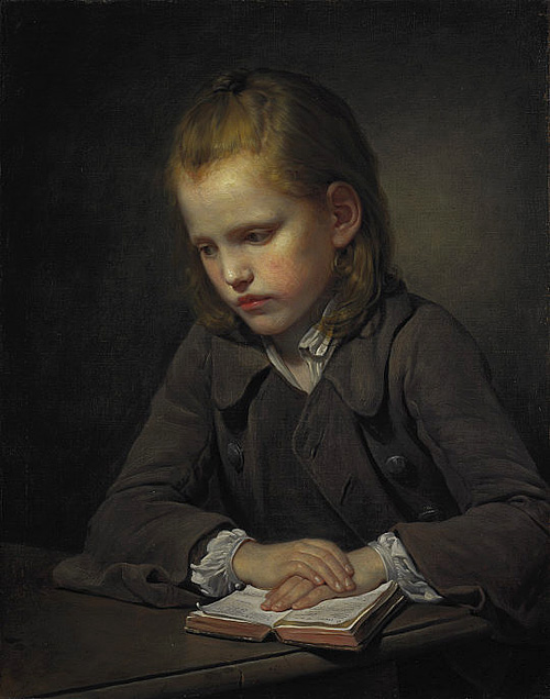A Boy with a Lesson-book