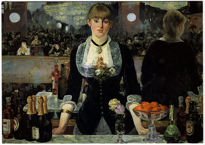 A Bar at the Folies Bergère, 1881-1882, by Edouard Manet (1832-1883)