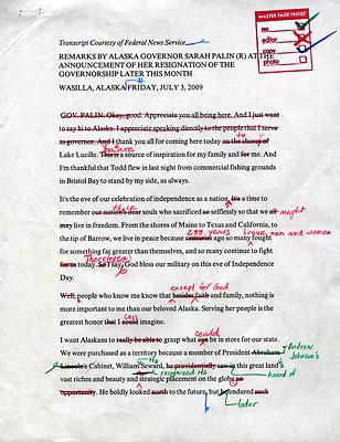 Vanity Fair edits Sarah Palin